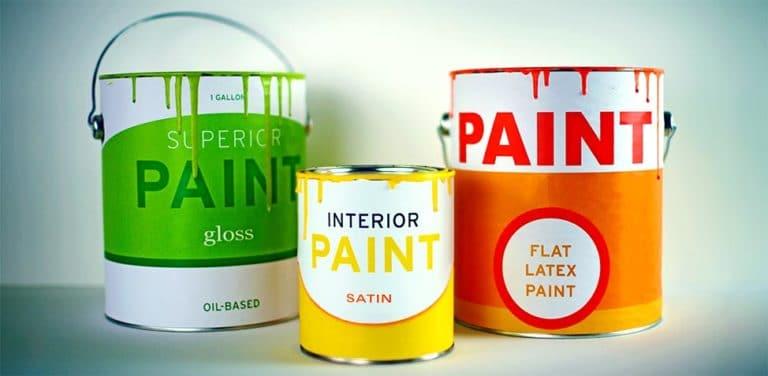 Satin Gloss and Flat Paint