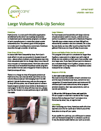 Large Volume Pick-up Fact Sheet