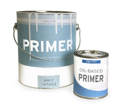 oil and latex based primer cans